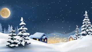 28元表と冬の雪景色