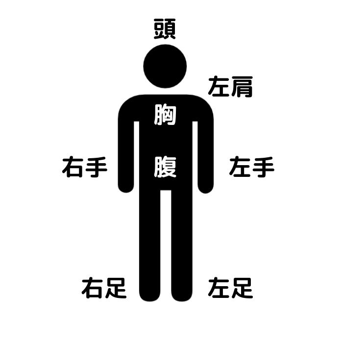 算命学陽占(人体図)と各配置の見方