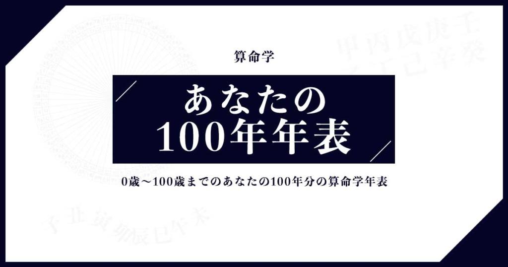 算命学:100年年表