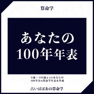 算命学:あなたの100年年表